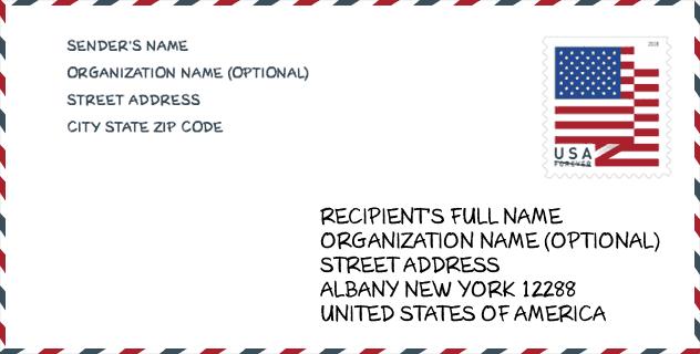 Zip Code 12288 Albany Us Postal Service Ny United States Zip