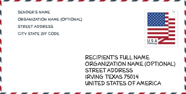Zip Code 75014 Irving Tx United States Zip Code