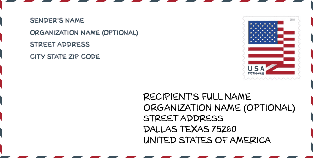 Zip Code 75260 Dallas Tx United States Zip Code